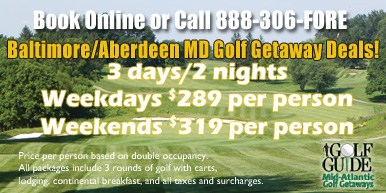 Baltimore/Harford County Golf Getaways